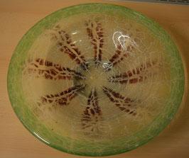 Artikelnummer :001022/ Glasschale, Ikora Glas, 30er Jahre,grün