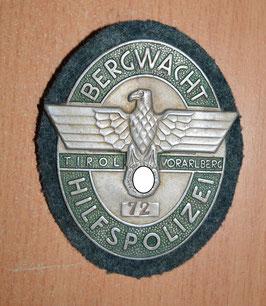 Artikelnummer: 02094 DIENSTABZEICHEN BERGWACHT-HILFSPOLIZEI