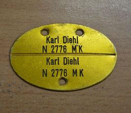 Artikelnummer: 02000 Erkennungsmarke Kriegsmarine