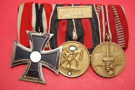 Artikelnummer :000394/ 3er Ordensspange eines Soldaten der Wehrmacht