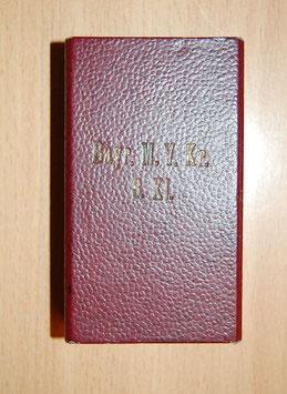 Artikelnummer: 00513 VERLEIHUNGSETUI  zum Militär Verdienst Kreuz des MVO 3.Klasse