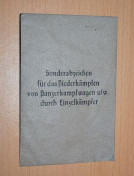 Artikelnummer: 02501 Tüte fürs Sonderabzeichen für das Niederkämpfen ..
