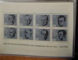 Artikelnummer : 000095/BriefmarkenBlock Widerstand Jahrestag 20.Juli 1944-1964