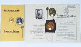Artikelnummer: 00680 Großer Sport Nachlaß mit Urkunden und Abzeichen