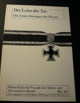 Artikelnummer: 00671 Der Lohn der Tat, Ausz. des Heeres, Nachdruck