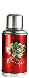 "0,8 Liter Thermos  ""Grüne Rose"""