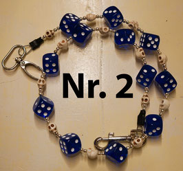 wallet chain - blue dice