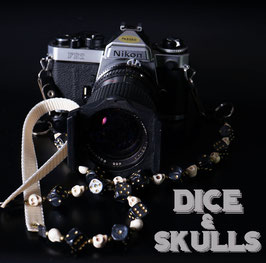 camera strap black/gold