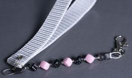 wrist strap black/pink
