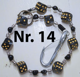 wallet chain - smoke/black dice