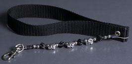 wrist strap black/silver