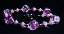 wallet chain - pink pink