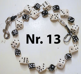 wallet chain - ivory/black dice