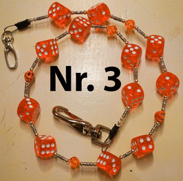 wallet chain - orange dice