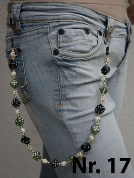 wallet chain - black/green dice