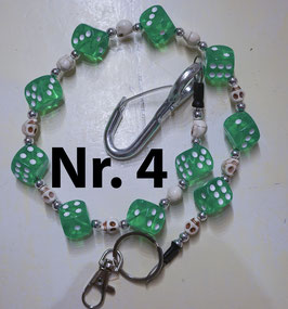 wallet chain - green dice