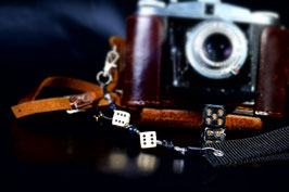 wrist strap black/ivory