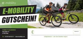 Gutschein ALLGEMEIN - gültig für Ebikes, Radzubehör, Radmiete, geführte Tour, Radservice