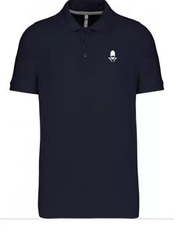 Polo Navy broderie blanche