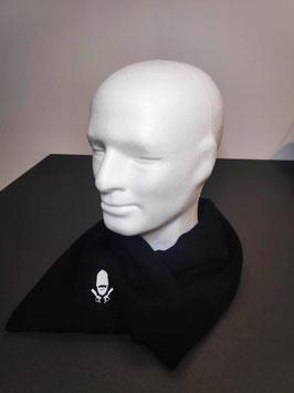 Echarpe noire broderie blanche