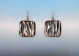 Wave Square Earrings on French Wires