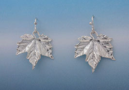 Maple Leaf Earring Crinkle Texture L 5 C FW