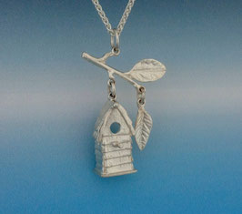 Small Bird House Pendant - BH 2 P