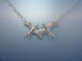 Double Swallow Necklace on Chain SWDN