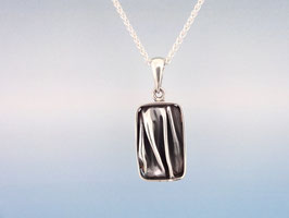 Wave Long Rectangle Pendant Small