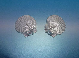 Scallop Earring With Starfish S 10 AS ER