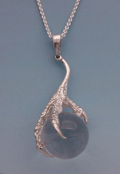 Claw with a Quartz Ball Pendant - CL 1 P