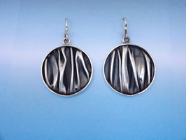 Wave Circle Earrings on French Wires