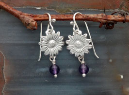 Daisy Earring with drop - FL 2 FW WP