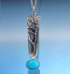Tree Pendant with Blue Turquoise TP 1