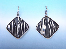 Wave Diamond Earrings on French Wires