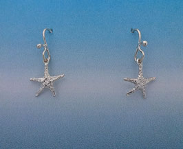 Small Starfish earrings on french wires