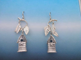 Small Bird House Earrings - BH 2 FW