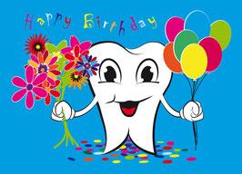 Geburtstagskarte Zahnarzt Motiv Mr. Teeth