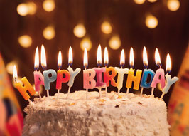 Geburtstagskarte Zahnarzt Motiv Happy Birthday