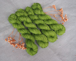 welthase bfl  mini skein 20g fingering green glass