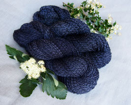 welthase tweed fingering night blue* dyed to order