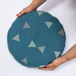 Pouf Triangle blau