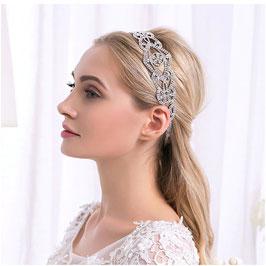Haarband Silber Haarschmuck Braut Haarschmuck Hochzeit N27022