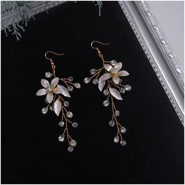 Ohrringe Strass Perlen N5102