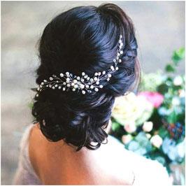 Haarklammer Perlen Silber Haarschmuck Hochzeit Haarschmuck Braut N4220