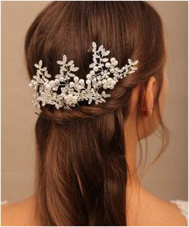 Set 3. Stk. Haarnadeln Perlen Strass Silber Haarschmuck Braut Haarschmuck Hochzeit N6288