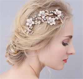 Haarschmuck Braut Haarkamm Blumen Perlen Strass Gold Haarschmuck Gold N30551 Brautschmuck Blumen Gold Braut Haarschmuck Hochzeit