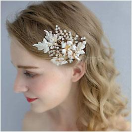 Haarklammer Gold Strass Perlen Fascinator Braut Haarschmuck Hochzeit Haarschmuck Braut N4870