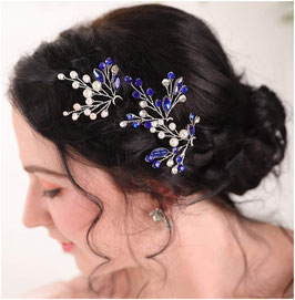 Set 3. Stk. Haarnadeln Blau Perlen  Haarschmuck Braut Haarschmuck Hochzeit Haarschmuck Festlich N6287