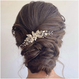 Haarnadel Silber Perlen 1. Stk. Haarschmuck Braut Haarschmuck Hochzeit N6119